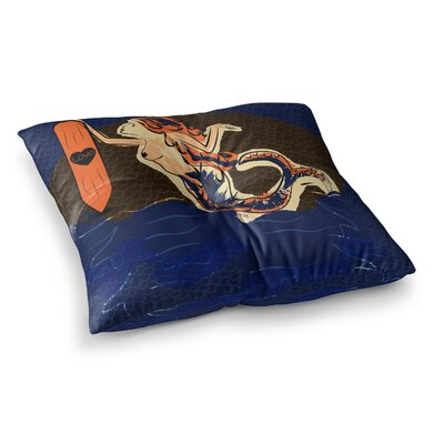 Mermaid by Famenxt Floor Pillow Size: 23 x 23