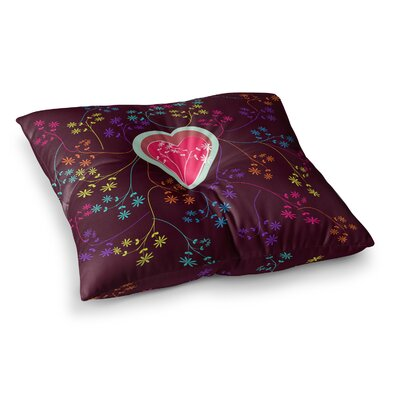 Love Heart by Famenxt Floor Pillow Size: 26 x 26