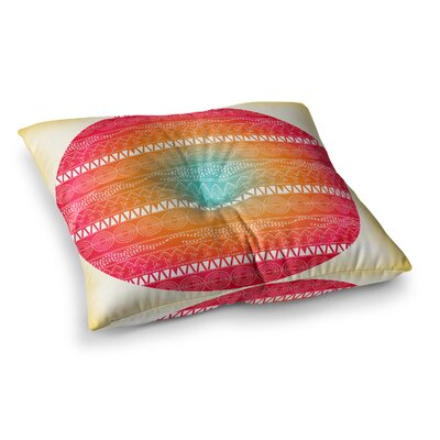 Romantic Pattern by Famenxt Floor Pillow Size: 23 x 23