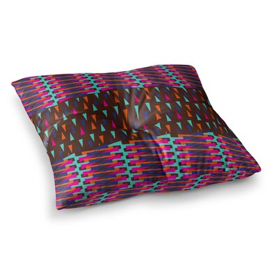 Abstract Triangle Pattern by Famenxt Floor Pillow Size: 26 x 26