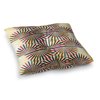 Colorful Abstract Pattern by Famenxt Floor Pillow Size: 26 x 26