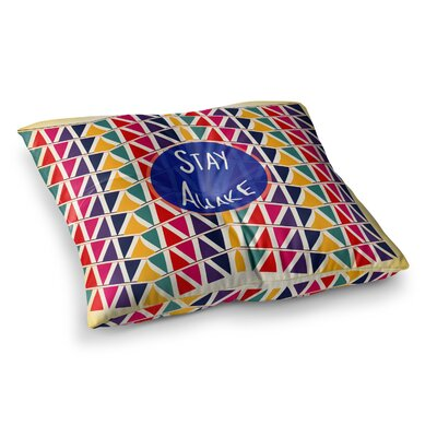 Stay Awake by Famenxt Floor Pillow Size: 26 x 26