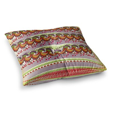 Colorful Traditional Pattern Digital by Famenxt Floor Pillow Size: 23 x 23