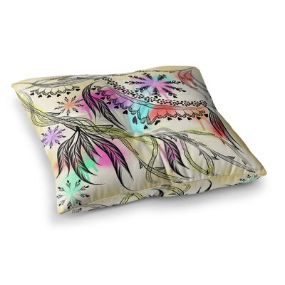Birds World by Famenxt Floor Pillow Size: 23 x 23