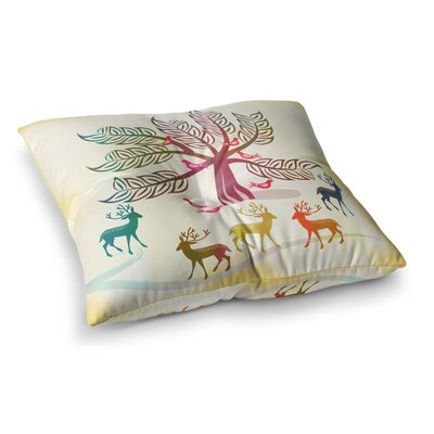 Fresh Farm Mangoes by Famenxt Floor Pillow Size: 23 x 23