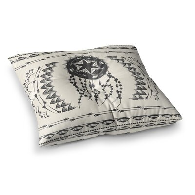 Bohemian Dream Catcher Boho by Famenxt Floor Pillow Size: 23 x 23