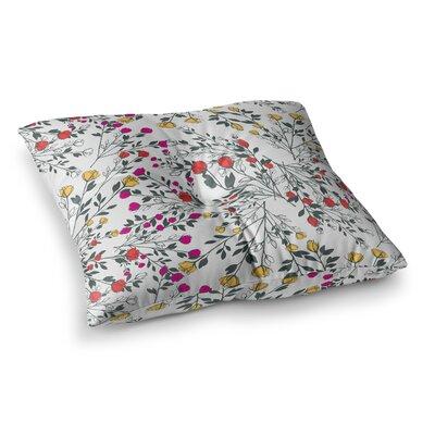 Rose Blossom Garden by Famenxt Floor Pillow Size: 26 x 26