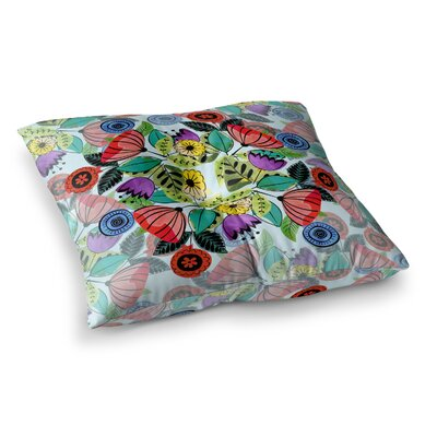 Fresh Spring Flowers by Famenxt Floor Pillow Size: 23 x 23