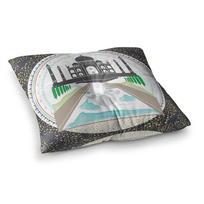 The Taj Mahal India by Famenxt Floor Pillow Size: 26 x 26