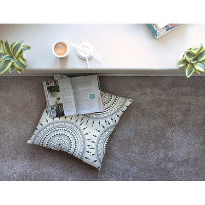 Boho Magic Mandala by Famenxt Floor Pillow Size: 23 x 23