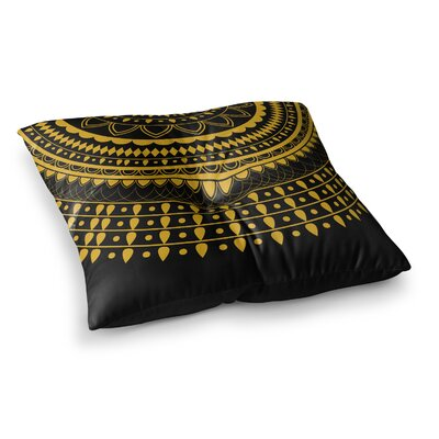 Vibes Mandala Digital by Famenxt Floor Pillow Size: 26 x 26