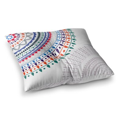 Tribes Vibes Mandala by Famenxt Floor Pillow Size: 26 x 26