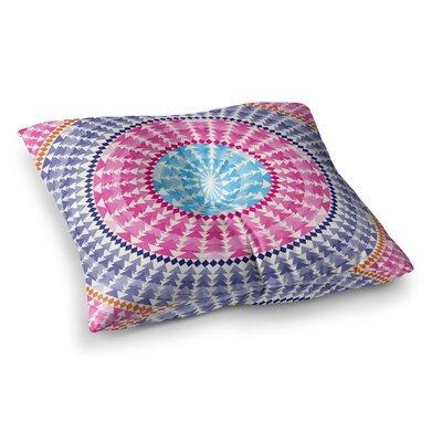 Mandala Illustration by Famenxt Floor Pillow Size: 23 x 23