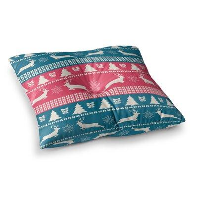 Christmas Illustration by Famenxt Floor Pillow Size: 26 x 26