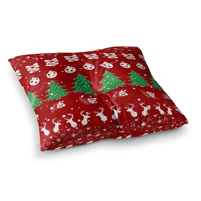 Christmas Vibes Illustration by Famenxt Floor Pillow Size: 26 x 26