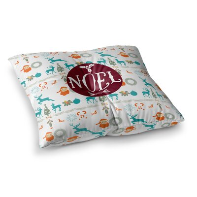 Noel Digital by Famenxt Floor Pillow Size: 23 x 23