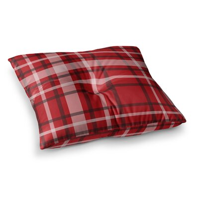 Plaid Digital by Famenxt Floor Pillow Size: 26 x 26