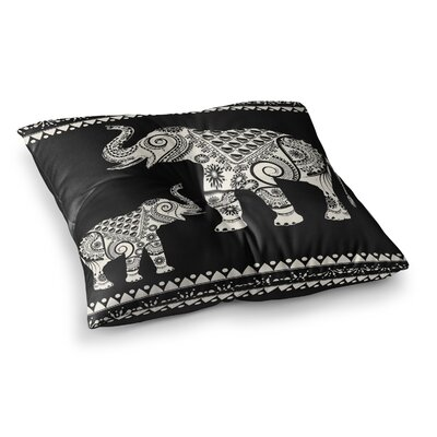 Ornamental Indian Elephant Digital by Famenxt Floor Pillow Size: 23 x 23