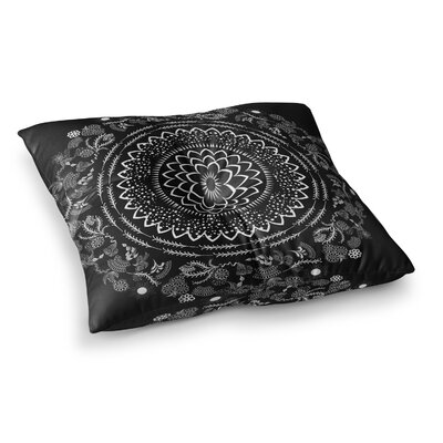 Botanical Folk Vibes Mandala Illustration by Famenxt Floor Pillow Size: 26 x 26