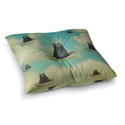 Bears Floating Animals by Natt Floor Pillow Size: 23 x 23