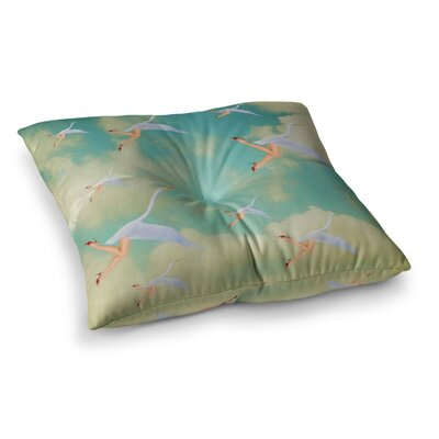 Swan by Natt Floor Pillow Size: 26 x 26