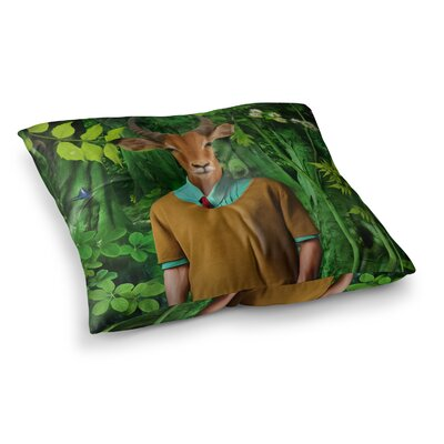 Into the Leaves N4 Antelope by Natt Floor Pillow Size: 26 x 26