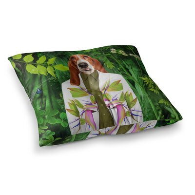 Into the Leaves N5 Dog by Natt Floor Pillow Size: 23 x 23