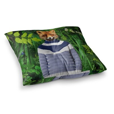 Into the Leaves N7 Fox by Natt Floor Pillow Size: 23 x 23