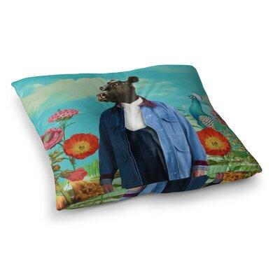 Family Portrait N2 Cow by Natt Floor Pillow Size: 23 x 23