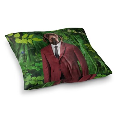 Into the Leaves N2 Dog by Natt Floor Pillow Size: 23 x 23