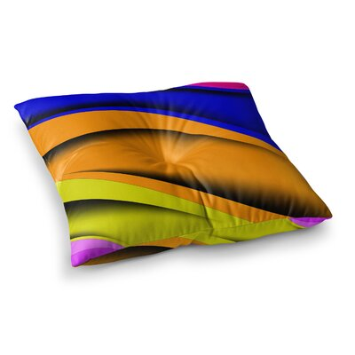 Colorful Flow Abstract Digital by Fotios Pavlopoulos Floor Pillow Size: 26 x 26