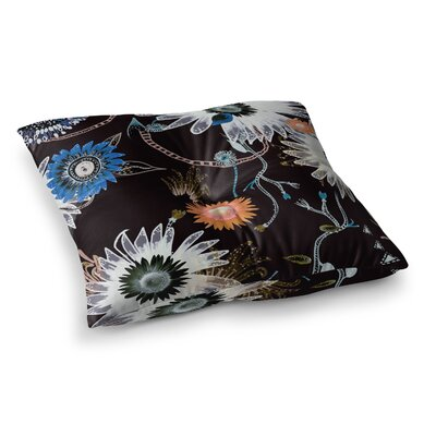 Dancing Flowers by Fernanda Sternieri Floor Pillow Size: 23 x 23
