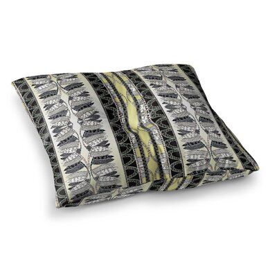 Oriental Stripes Digital by Fernanda Sternieri Floor Pillow Size: 26 x 26