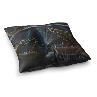 Sink or Swim by Graham Curran Floor Pillow Size: 26 x 26