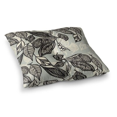 Java Leaf by Gill Eggleston Floor Pillow Size: 23 x 23