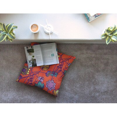 Garden Blooms by Gill Eggleston Floor Pillow Size: 26 x 26