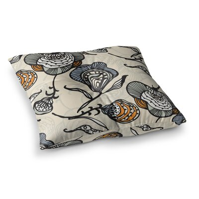 Future Nouveau by Gill Eggleston Floor Pillow Size: 23 x 23, Color: Tan