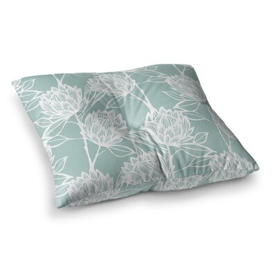 Protea by Gill Eggleston Floor Pillow Size: 23 x 23, Color: Blue/White