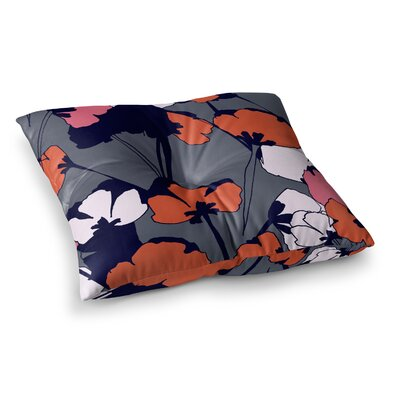 Pop Flowers by Gabriela Fuente Floor Pillow Size: 23 x 23