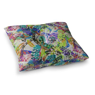 Flow Floral by Gabriela Fuente Floor Pillow Size: 26 x 26