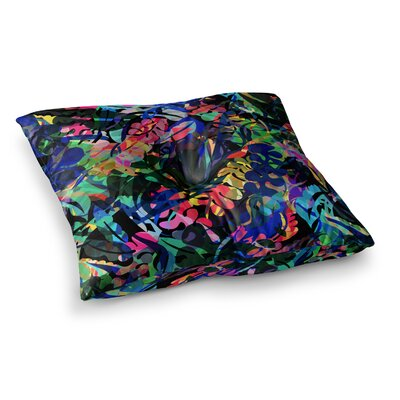 Flora Splash by Gabriela Fuente Floor Pillow Size: 26 x 26