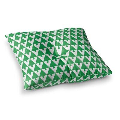 Happy X-Mas Geometric by Gabriela Fuente Floor Pillow Size: 26 x 26, Color: Green