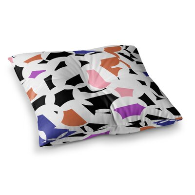 Geo by Gabriela Fuente Floor Pillow Size: 26 x 26, Color: White