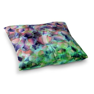 Bubbles by Gabriela Fuente Floor Pillow Size: 23 x 23