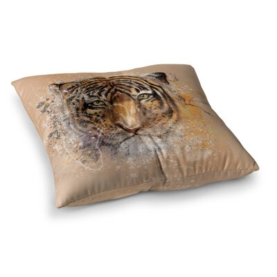 My Tiger by Geordanna Cordero-Fields Floor Pillow Size: 23 x 23