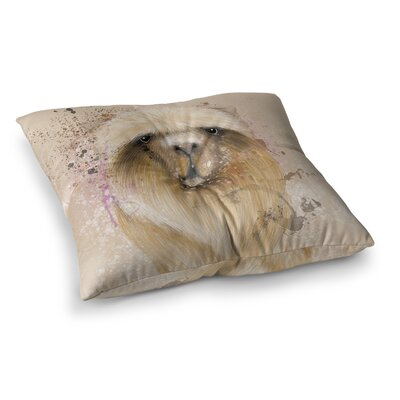 Llama Me by Geordanna Cordero-Fields Floor Pillow Size: 23 x 23