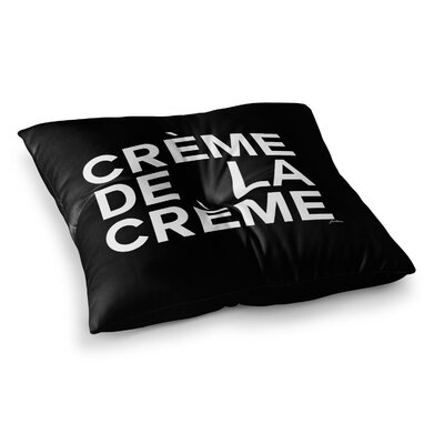 Creme De La Creme by Geordanna Cordero-Fields Floor Pillow Size: 26 x 26