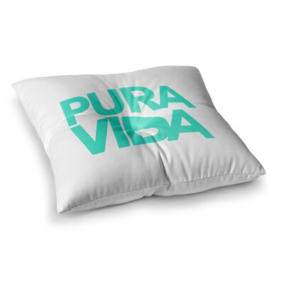 Pura Vida by Geordanna Cordero-Fields Floor Pillow Size: 26 x 26