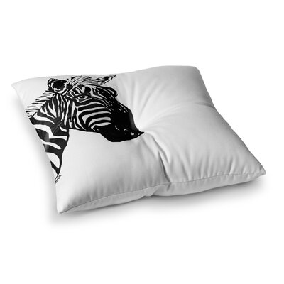 My Zebra Head by Geordanna Cordero-Fields Floor Pillow Size: 23 x 23