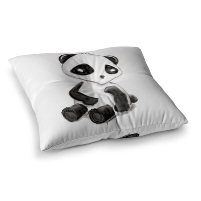 My Panda Sketch by Geordanna Cordero-Fields Floor Pillow Size: 23 x 23
